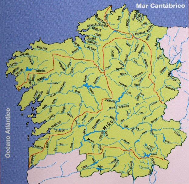 Mapa De Galicia Rios.Pesca De Trucha En Galicia Mapa De Rios En Galicia