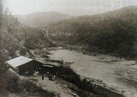 Río Miño en Cortegada. Antes de facer o encoro de Frieira. Fotografía de autor descoñecido.